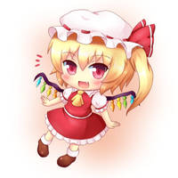 Touhou Chibi Flandre Scarlet by KANE-NEKO