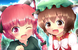 Touhou - Orin and Chen who will you choose? by KANE-NEKO
