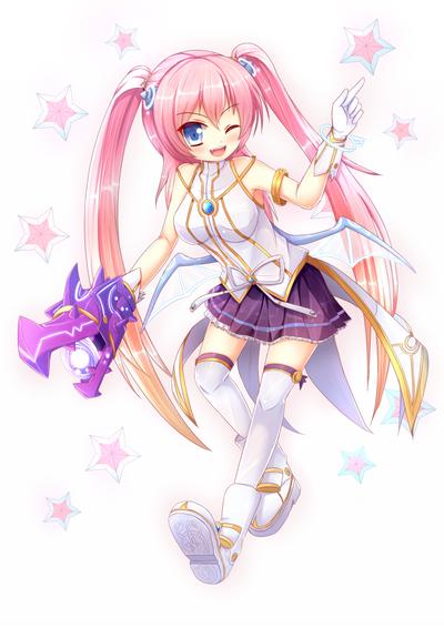 Comm - Maple Story Angelic Buster by KANE-NEKO
