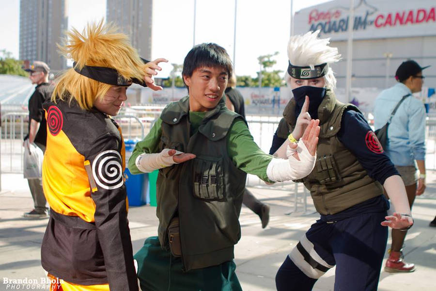 Naruto, Rock Lee and Kakashi at Fan Expo 2013 by Kateex0
