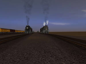 (1) The two steam locomotives for the Doubleheader