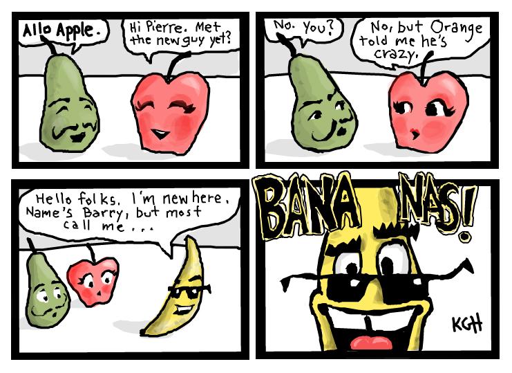 Fruit Salad Cartoon Fruit Salad by Artist Kgh