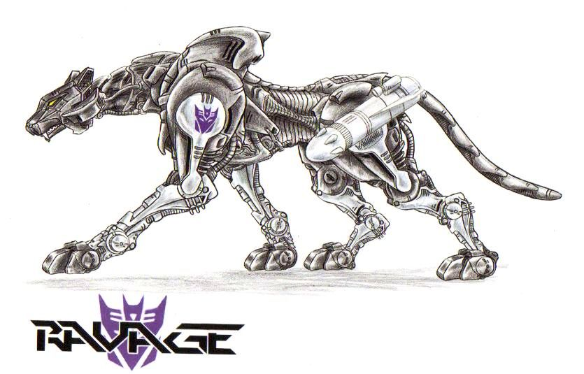Not Mine 3 Ravage as a Zoid by Zoid Art