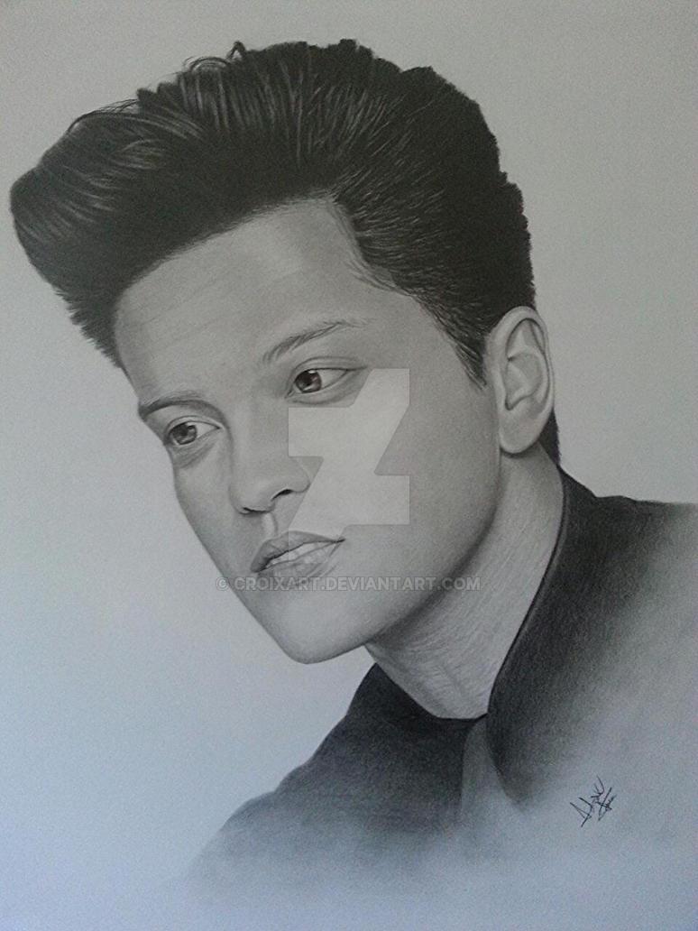 Bruno Mars Portrait by CroixArt