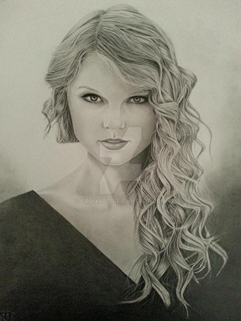 Taylor Swift Portrait by CroixArt