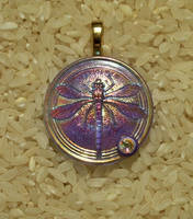 Iridescent dragonfly pendant by Sweet2Spicy