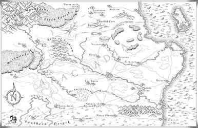 Arachadia: Commission Map for Novel