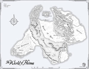 Heima: Commissioned Map for Novel