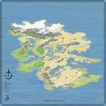 Unlabeled Fantasy Map, Free for Non-Commercial Use
