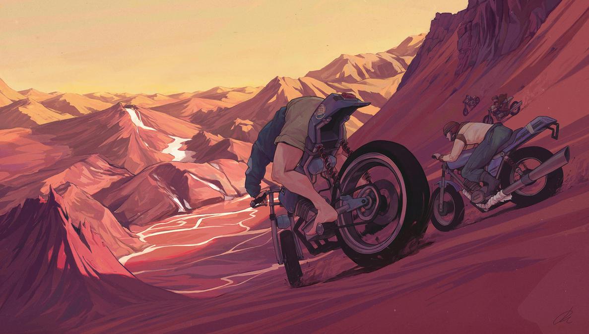 Strange Sunset by JonEastwood