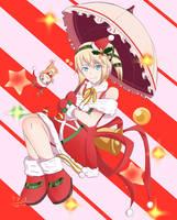 Tales of Zestiria - Christmas Edna by Nera-loka14