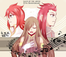 Tales of the Abyss - 11th Anniversary by Nera-loka14