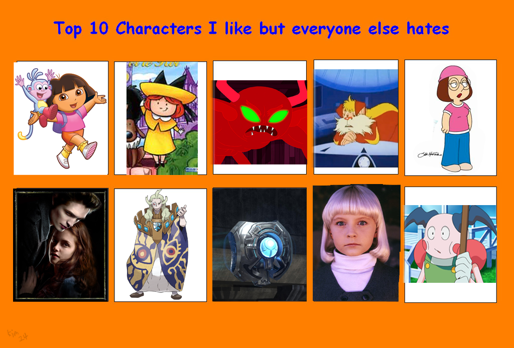 Anime Characters Everyone Hates : Top characters i like but everyone hates meme by