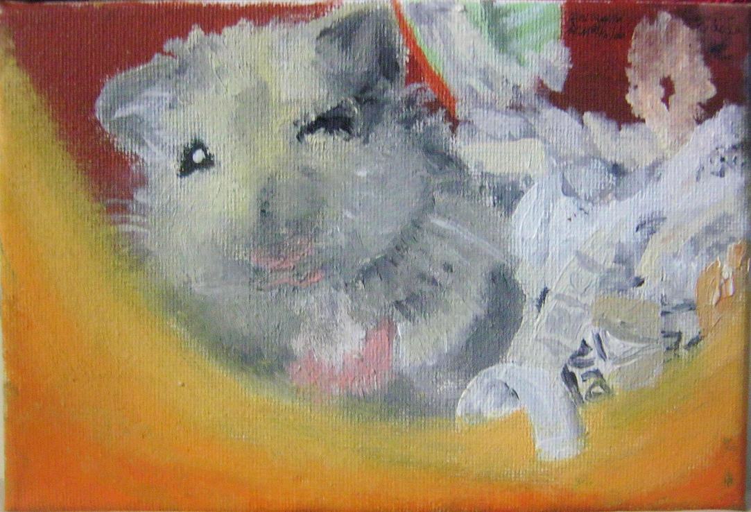 Neko The Hamster (painting) by Kimorox