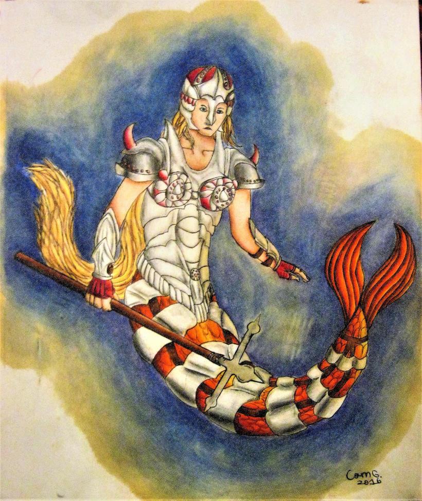 Armored Mermaid by Kimorox