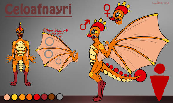Celoafnayri reference sheet