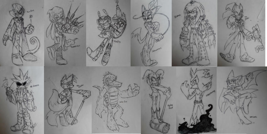 Sketch Dump by Zombie-Commissioner