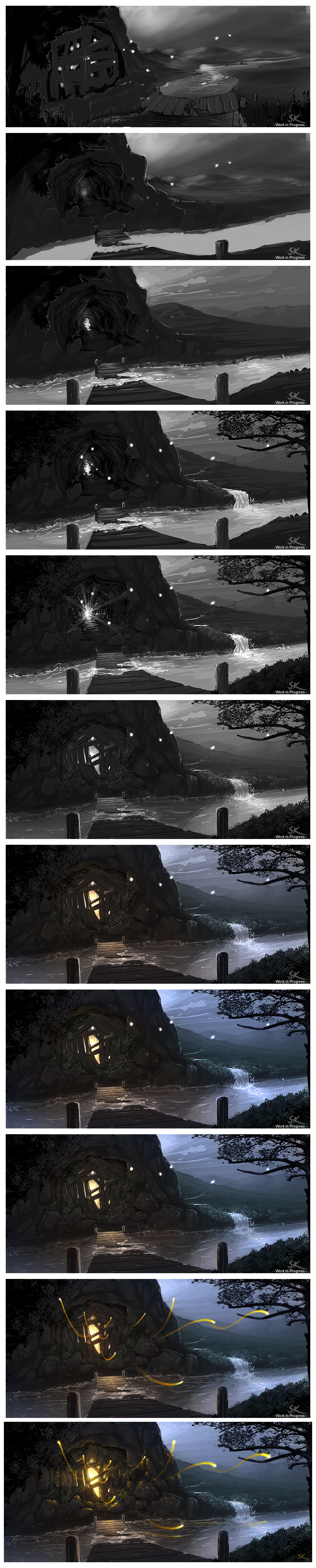 Sylvain's works [UP-Environment_05-P.5] - Page 3 Magical_Mine___process_by_Sylvain_Klein