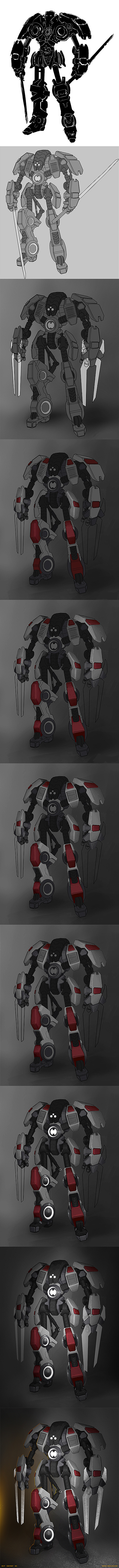 Mecha_3VF_process by Sylvain-Klein
