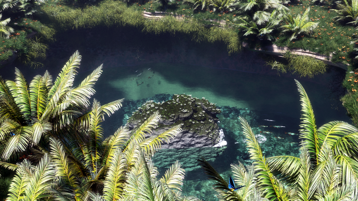 Pond in the jungle by Klontak