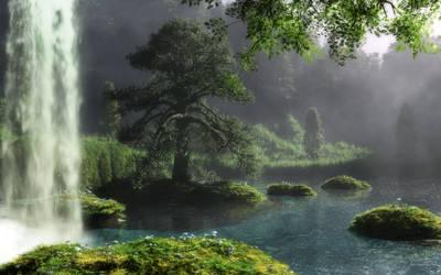 Misty waterfall by Klontak