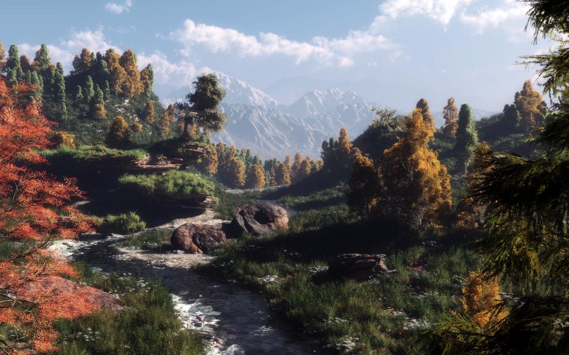 Spring creek by Klontak