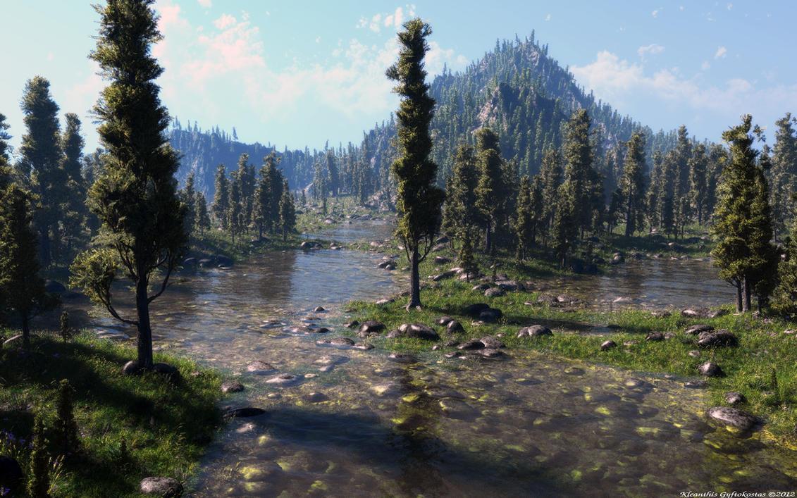 Cypress lake by Klontak