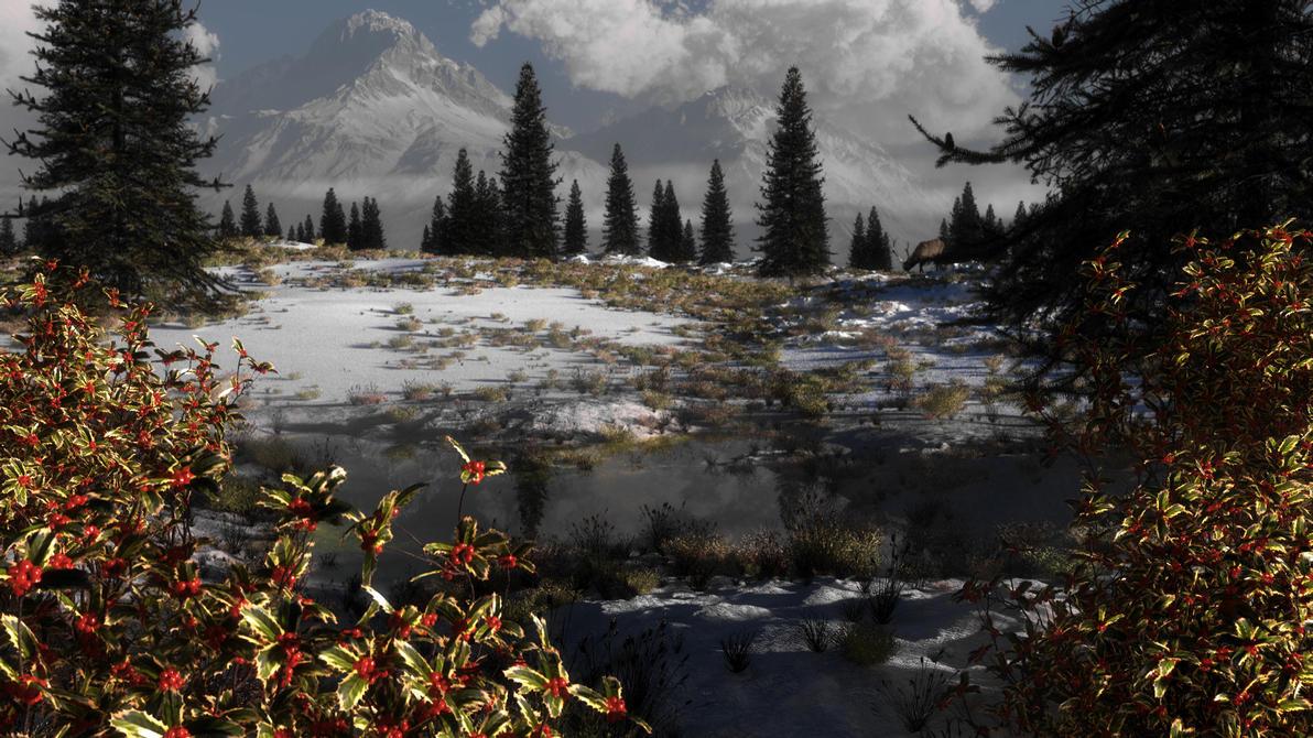 Holly winter 1 by Klontak