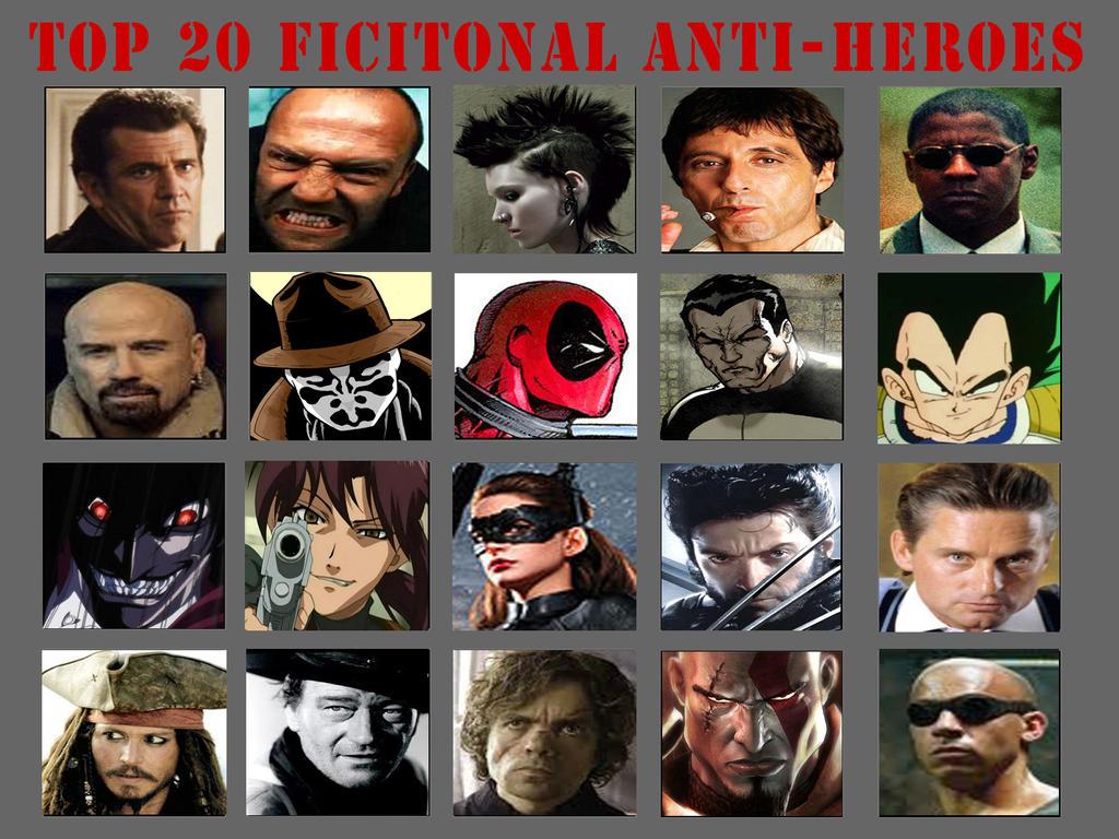 Top 20 Anti Heroes By MyNameIsArchie