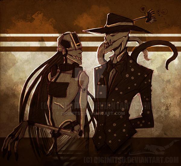 Creepy GLaDOS and Creepy Splendorman by Digimitsu