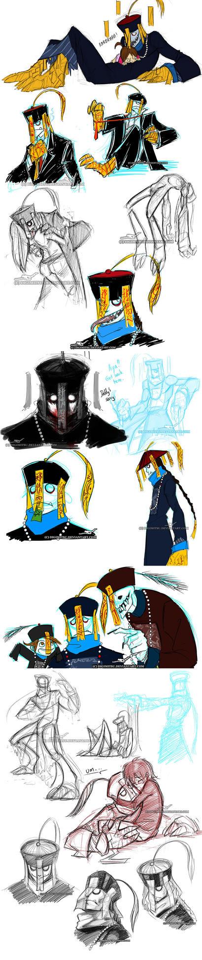 Mr China: Sketchdump 02 by Digimitsu