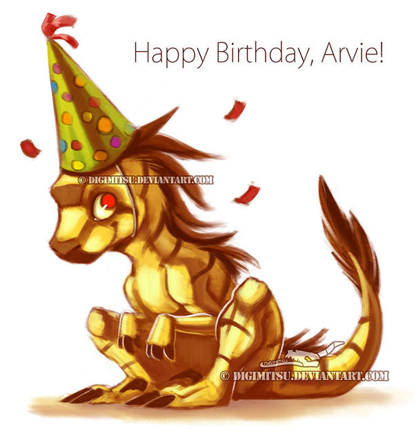 Happy Birthday, Arvata by Digimitsu
