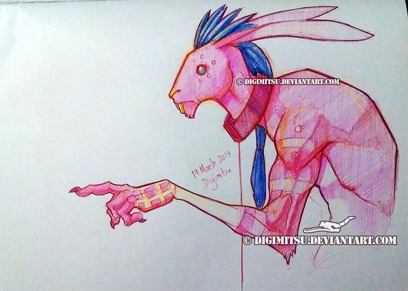 Pen Art: Hasen by Digimitsu