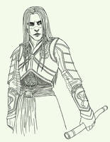 Prince Nuada - Lineart by icy-blue-rae