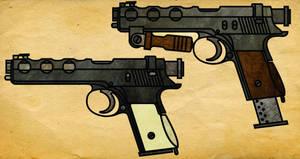 Steampunk Machine Pistol
