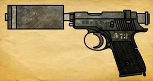 Suppressed Chinese Machine Pistol