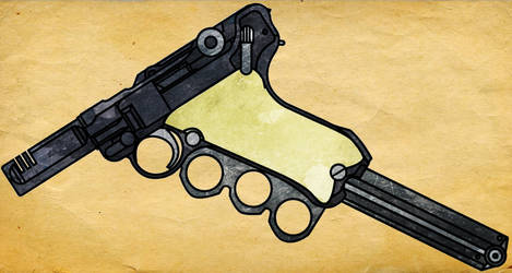 Luger P08 9mm Faustmachinenpistole by CaldwellB734