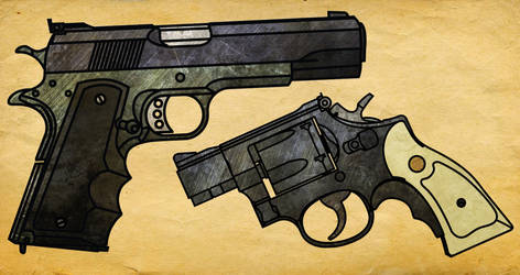 GCNM/1911A1 Hybrid and Smith and Wesson Model 15 by CaldwellB734