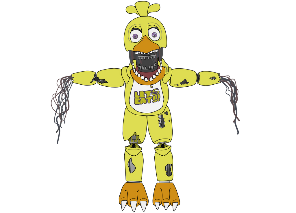 Chica in Party Room 2, lights on. | Five nights at freddy'-s ...