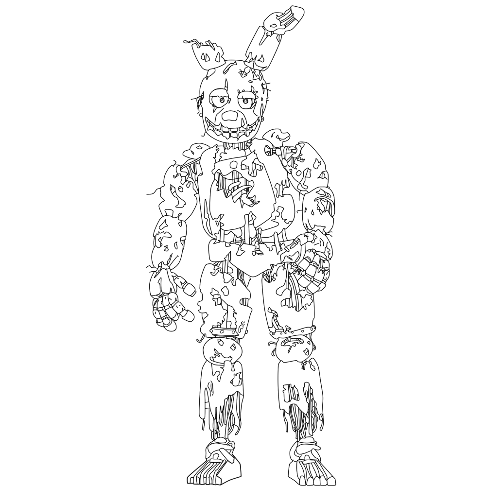 fnaf coloring pages springtrap spring trap fnaf free colouring pages