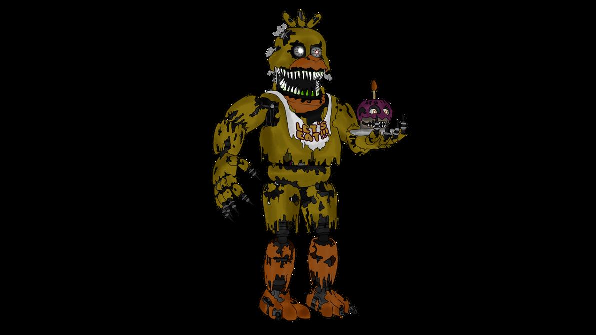 Как нарисовать кошмарную той чику