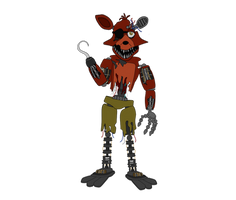 Withered Foxy - Five Nights at Freddy's 2 by J04C0