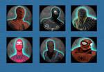 Spiderman Huds Of Pack Final Variants Suits Image