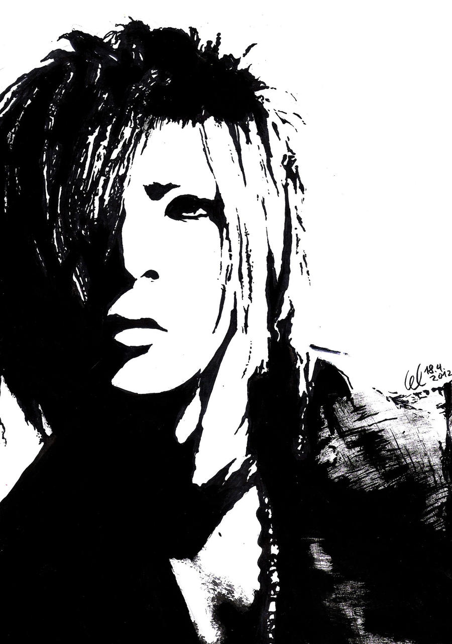 Ruki black white painting by hayleyfeatruki on deviantart for White and black paintings