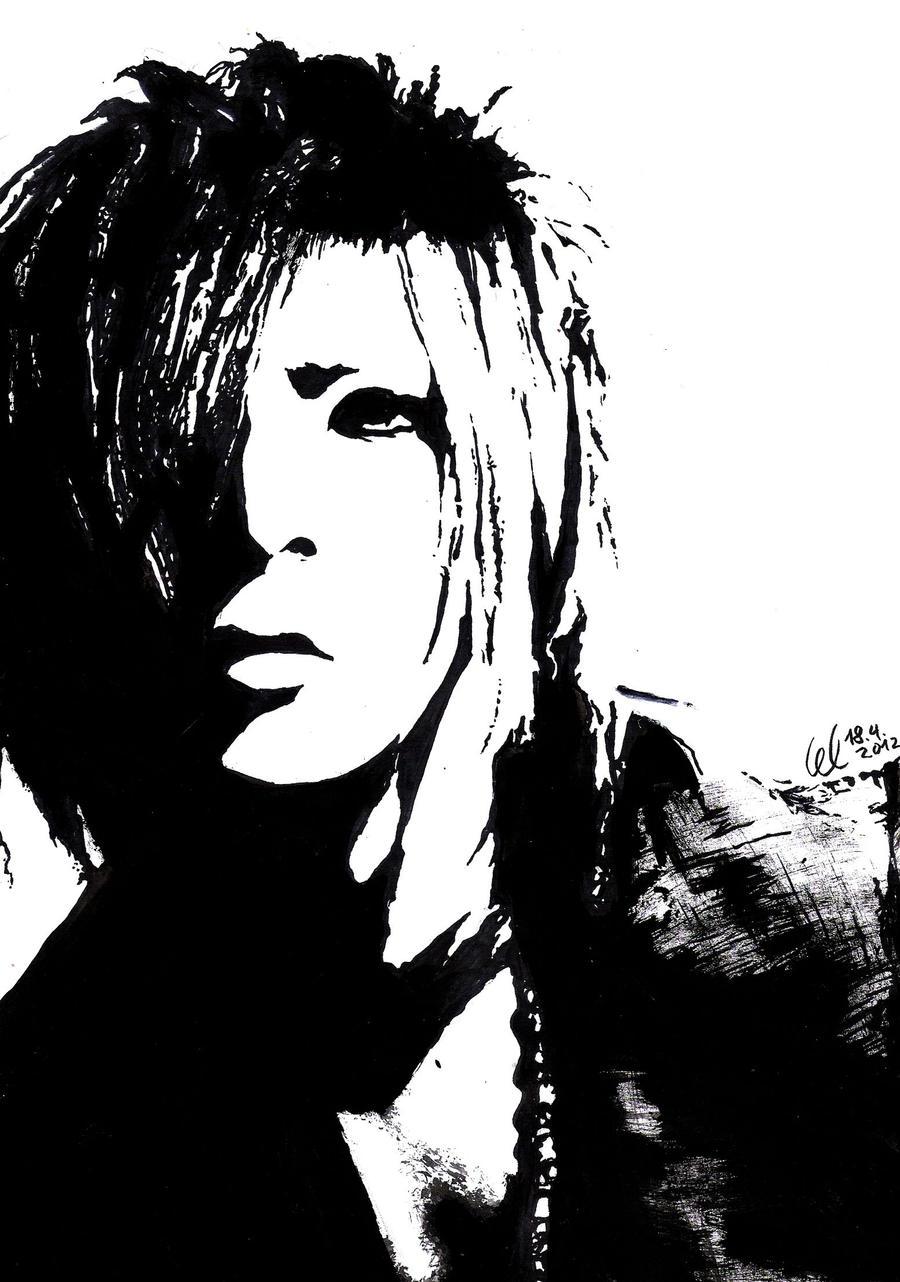 Ruki Black-White Painting by HayleyFeatRuki on DeviantArt