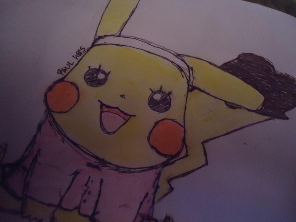 Pen Drawing Pika by ImpishPika