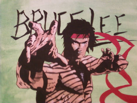 Bruce Lee Painting