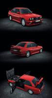 BMW M3 E30 low poly