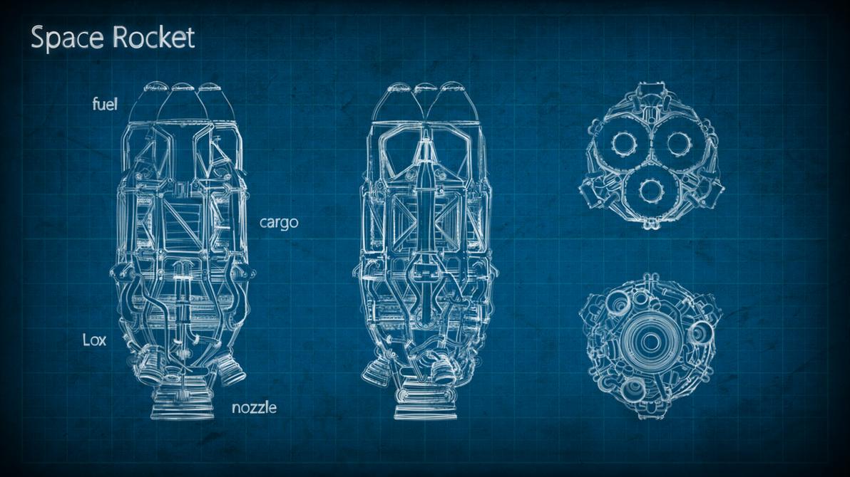 Rocket blueprint by m0ntezuma on deviantart rocket blueprint by m0ntezuma malvernweather Images