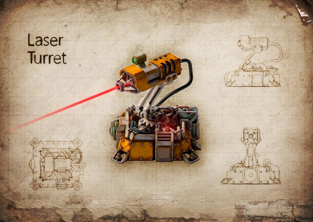 Laser Turret v1 by M0NTEZUMA